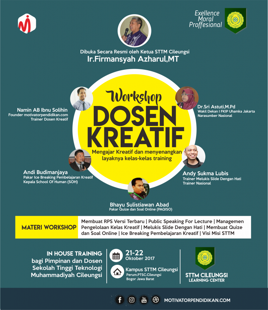 Poster Workshop Dosen Kreatif